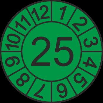 Jahreszahl - Etiketten 2025