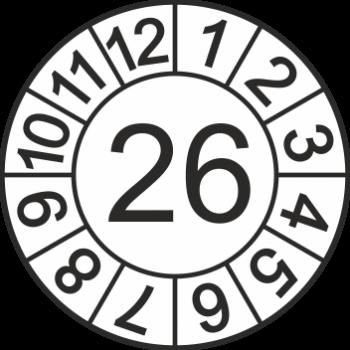 Jahreszahl - Etiketten 2026