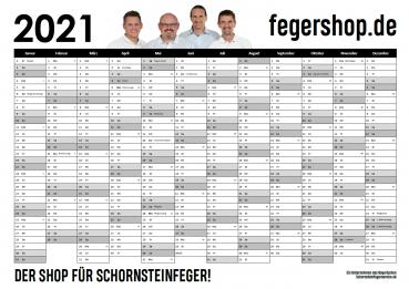 fegershop - Kalender 2021